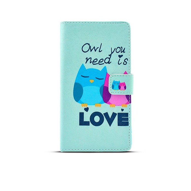 """Sony Xperia Z3 - Etui Inclinable CB avec Motif """"Owl You Need is Love"""""""