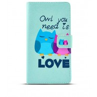"Sony Xperia Z3 - Etui Inclinable CB avec Motif ""Owl You Need is Love"""