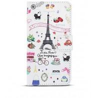"""Sony Xperia Z3 - Etui Portefeuille Inclinable Pochettes CB - """"Paris C'est Magnifique"""""""