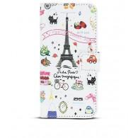 """iPhone 6 - Etui Portefeuille Inclinable Pochettes CB - """"Paris C'est Magnifique"""""""
