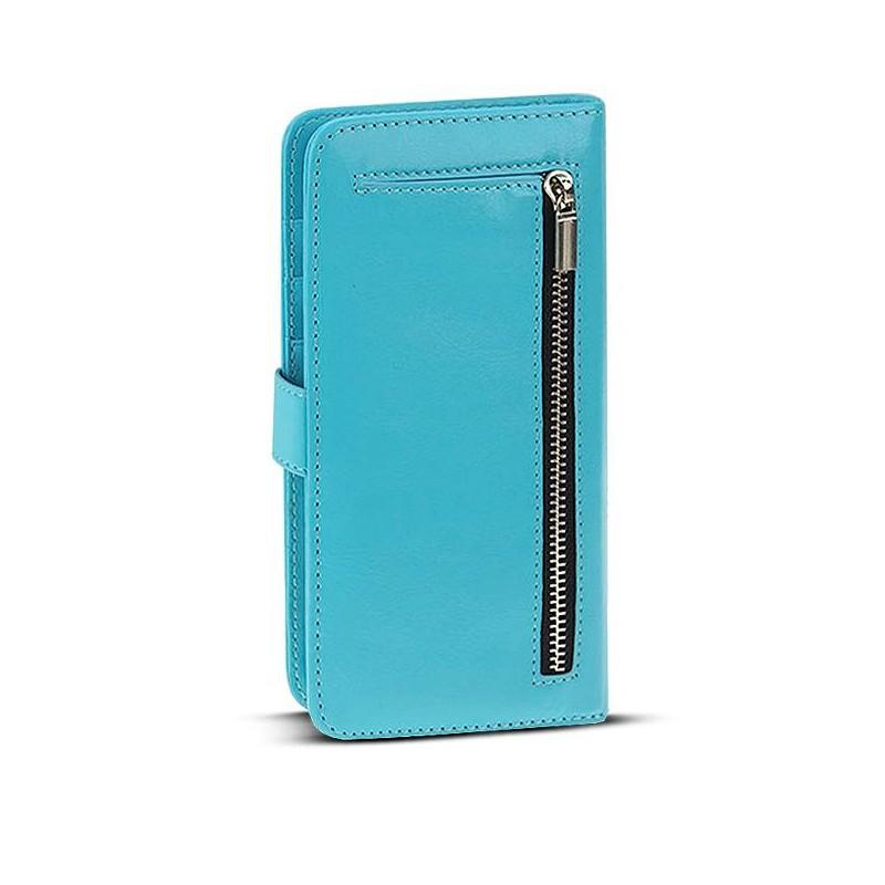 iPhone 6 Plus - Étui Portefeuille + Coque Détachable 2 en 1 - Pochettes CB - Turquoise