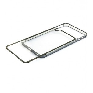 iPhone 6 - Coque Bumper Métal Transparent & Gris