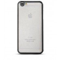 iPhone 6 Plus - Coque Bumper Métal Transparent & Gris