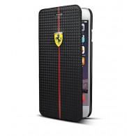 iPhone 6 - Étui Portefeuille Scuderia Ferrari Effet Carbone - Noir