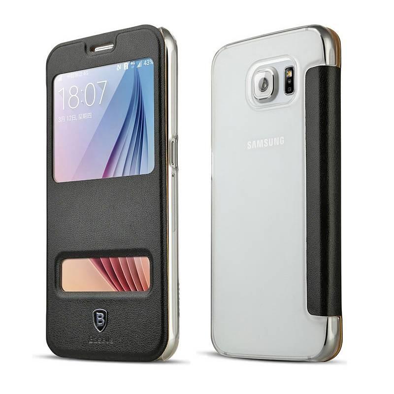 Galaxy S6 - Etui Baseus Primary avec Double Fenêtre d'Appel - Noir