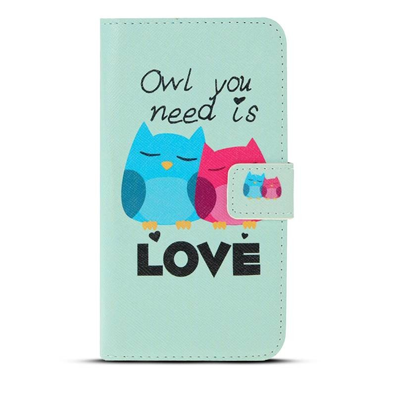 """Galaxy S6 - Etui Inclinable avec Motif """"Owl You Need is Love"""""""
