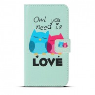 "Galaxy S6 - Etui Inclinable avec Motif ""Owl You Need is Love"""