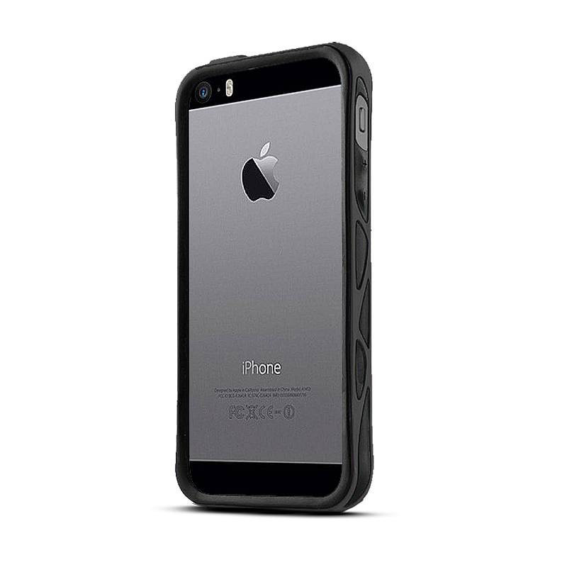 """iPhone 5 & 5S - Bumper + Films de Protection Avant-Arrière ITSKINS - Modèle """"Venum"""" - Noir"""