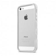 """iPhone 5 & 5S - Bumper + Films de Protection Avant-Arrière ITSKINS - Modèle """"Venum"""" - Blanc"""