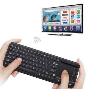 Mini Clavier MEASY RC8 2.4Ghz - FlyMouse avec Clavier Intégré & Mini TouchPad pour Smart TV Android / PC / Media Player