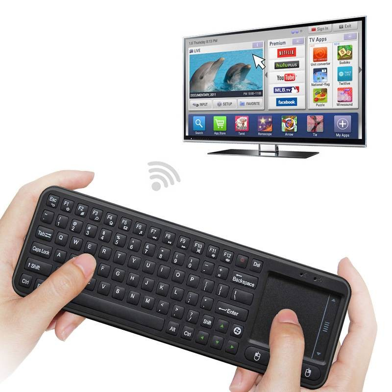 Mini Clavier MEASY RC8 2.4Ghz - FlyMouse avec Clavier Intégré & Touch Pad pour Smart TV Android / PC / Media Player