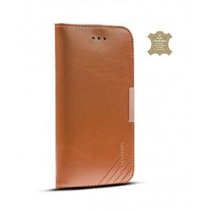 Sony Xperia Z4 - Étui Portefeuille en Cuir Véritable Kalaideng Royale - Pochettes CB - Cognac