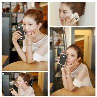 iPhone 6 Plus - Étui LOVE MEI Star Line - Plaqué Or 24K - Double Fenêtre - Coque Magnétique Détachable - Gold Champagne