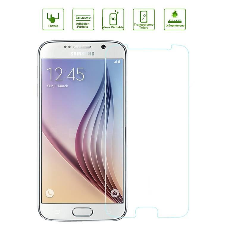 Galaxy S6 - Protection d'Écran en Verre Trempé - Anti-Rayure - Anti-Casse - Transparent