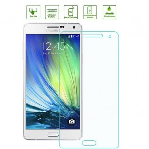 Galaxy A7 - Protection d'Écran en Verre Trempé - Anti-Rayure - Anti-Casse - Transparent