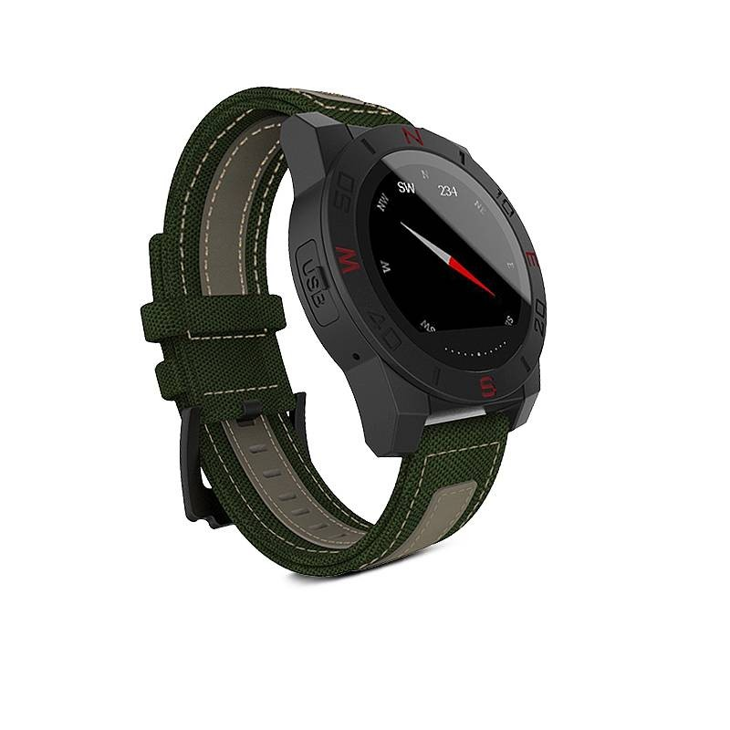 """Montre Connectée N10 - Écran Tactile Rond 1,22"""" - Podomètre Altimètre Fréquence Cardiaque Étanche - Compatible iOS et Android"""