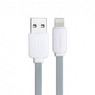 Câble Lightning Baseus String Series - Gainage Renforcé - Câble Plat Anti-Emmêlement - Gris