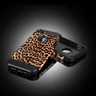 iPhone 6 & 6S - Coque Armor Double Protection avec Revêtement Façon Léopard