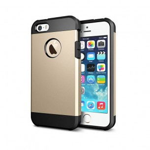iPhone 5 & 5S - Coque Armor Double Protection - Gold