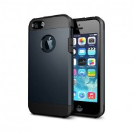 iPhone 5 & 5S - Coque Armor Double Protection - Bleu Nuit