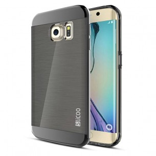 "Galaxy S6 Edge Plus - Coque Slicoo Double Protection ""Symphony Plating Series"" - Noir"