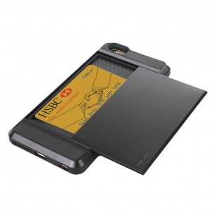 iPhone 6 Plus & 6S Plus - Coque Porte CB - Noir