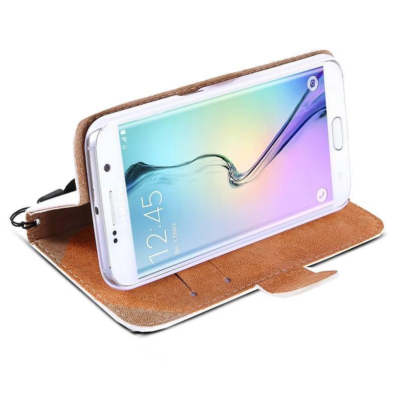 Galaxy S6 Edge Plus - Étui Portefeuille CB avec Coeur en Strass