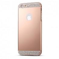 iPhone 6 Plus & 6S Plus - Coque Bumper avec Strass et Effet Miroir - Vieux Rose