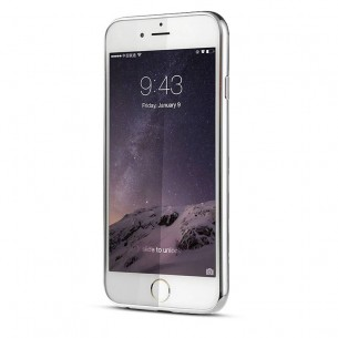 "iPhone 6 & 6S - Coque Bumper Baseus ""Shining Case"" - Fond Transparent Bordure Chromée"