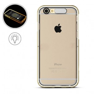 "iPhone 6 & 6S - Coque Lumineuse ROCK ""Light Case"" - Gold"