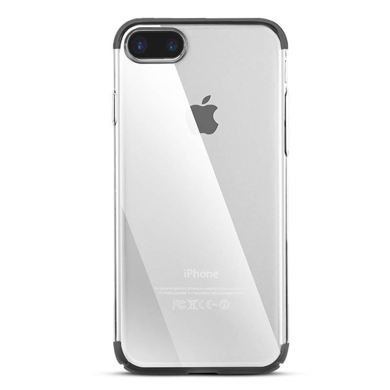 iPhone 7 Plus & 8 Plus - Coque BASEUS Transparente - Bordures Noires