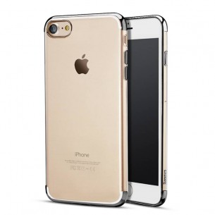 iPhone 7 - Coque BASEUS Transparente - Bordures Chromes