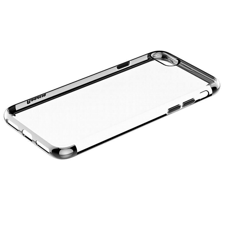 iPhone 7 - Coque BASEUS Transparente - Bordures Chromes