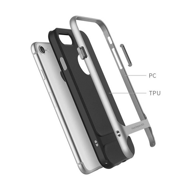 iPhone 7 Plus & 8 Plus - Coque ROCK Royce Series - Double Matière Double Couleur