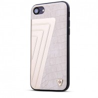 iPhone 7 Plus - Coque NILLKIN Hybrid - Aluminium & Simili Cuir Imitation Crocodile
