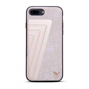 iPhone 7 - Coque NILLKIN Hybrid - Aluminium & Simili Cuir Imitation Crocodile