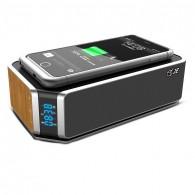 Enceinte Bluetooth Multifonctions JE UT11 - Chargeur Qi Sans Fil Induction - Réveil - Bluetooth 4.0 & NFC