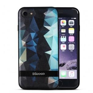 iPhone 7 - Coque TPU DZgogo avec Motifs Graphiques Losanges