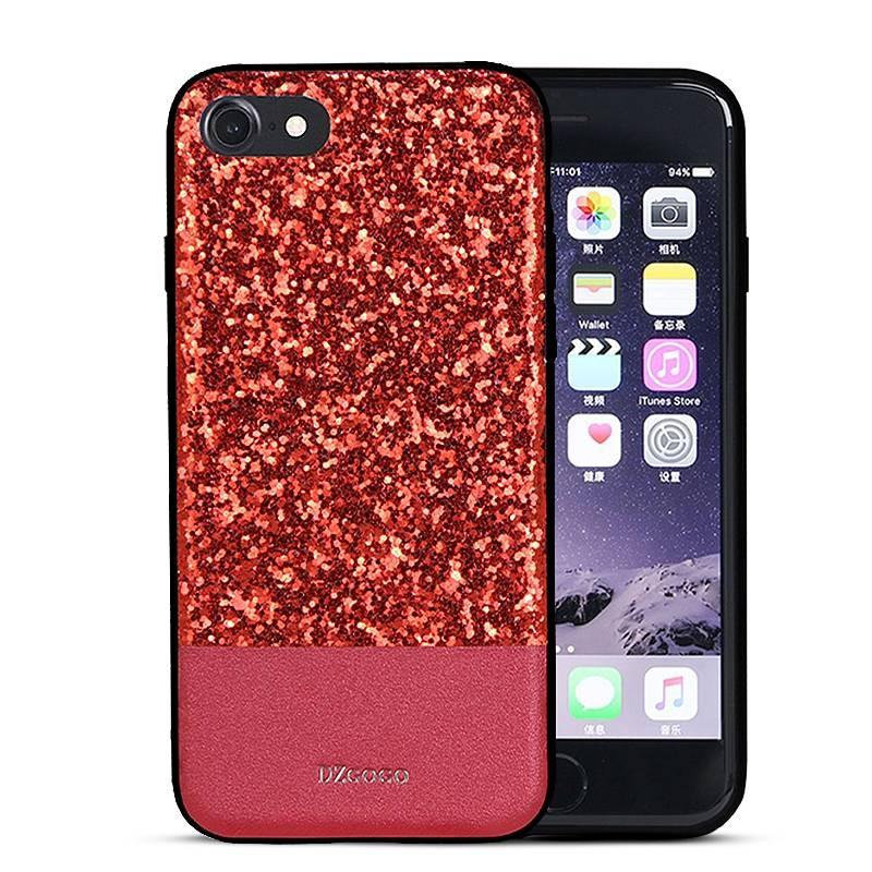 """iPhone 7 - Coque DZgogo """"Bling Series"""" - Revêtement à Paillettes"""