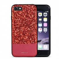 "iPhone 7 - Coque DZgogo ""Bling Series"" - Revêtement à Paillettes"
