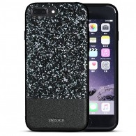 "iPhone 7 Plus - Coque DZgogo ""Bling Series"" - Revêtement à Paillettes"