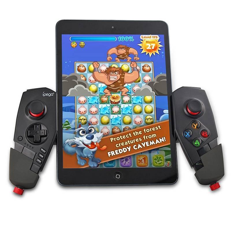 Manette de Jeux Bluetooth IPEGA PG-9055 pour Smartphone Tablette Android TV - Largeur 5,6 à 16 cm - Compatible iOS & Android