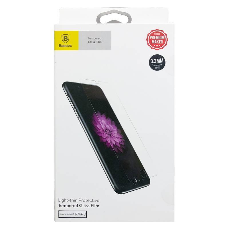 iPhone 7 & 8 - Protection d'Écran Ultra-Thin en Verre Trempé BASEUS Premium Series - 0,2 mm - Anti-Rayure - Anti-Casse