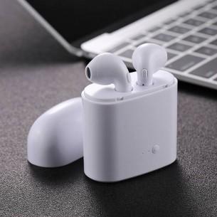 Écouteurs Bluetooth Type AirPods i7S TWS - Microphone Prise d'Appel et Gestion Pistes Musicales Intégrés