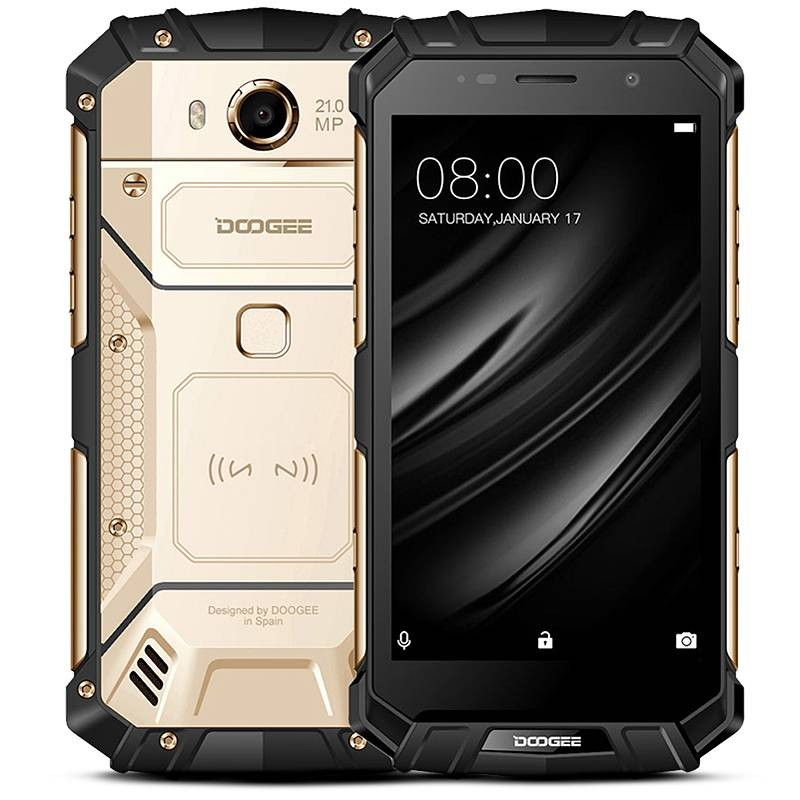 Smartphone 4G Étanche Anti-Choc DOOGEE S60 Lite - Écran 5,2' FHD Android 7.0 OctaCore Ram 4GB Rom 32GB WiFi Bluetooth NFC GPS