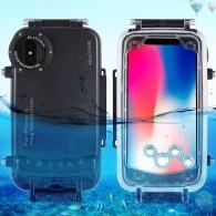 iPhone X - Caisson Étanche Transparent pour Prises de Vues Sous-Marines - Étanche jusqu'à 40 Mètres