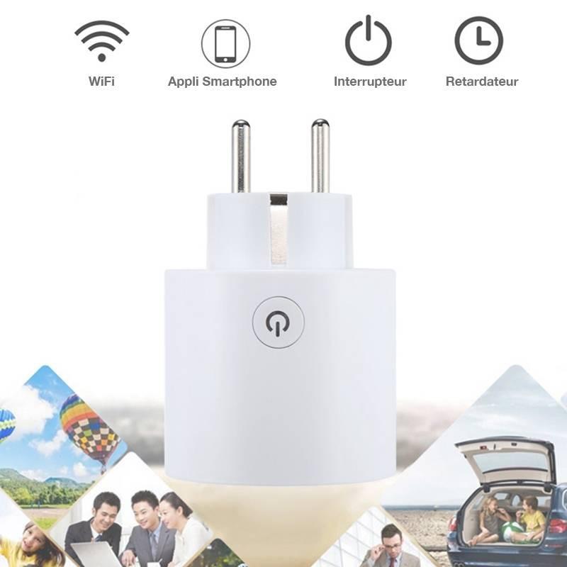 Prise Électrique Connectée WiFi - Application iOS & Android - Avec Programmateur