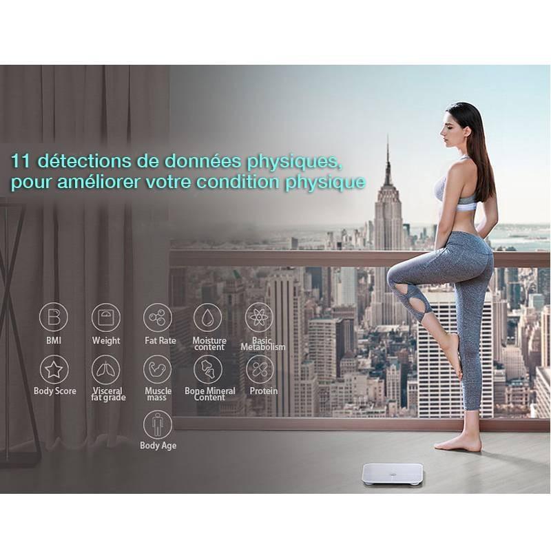 Balance Connectée HUAWEI Honor : Poids - IMC - Graisse - Muscles - Os - Eau - Calories - Graisse Viscérale - Corpulence