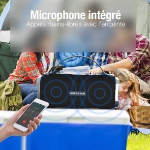 Enceinte Bluetooth HOPESTAR H24 -  Étanche IP64 - Microphone Intégré - Radio FM - MicroSD - Fonction Batterie de Secours -