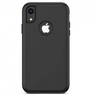 iPhone XR - Coque Rigide avec Double Fond Silicone